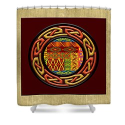 Shower Curtain featuring the painting Tribal Celt Nsomba by Kandy Hurley