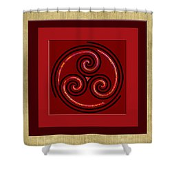 Shower Curtain featuring the painting Tribal Celt Triple Spiral by Kandy Hurley