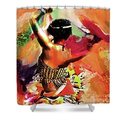 Tribal Dance 0321 Shower Curtain by Gull G