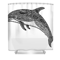 Tribal Dolphin Shower Curtain