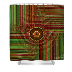 Tribal Drape Shower Curtain by Thibault Toussaint