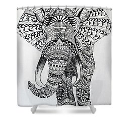 Tribal Elephant Shower Curtain by Ashley Price
