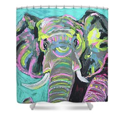 Tribal Elephant Shower Curtain