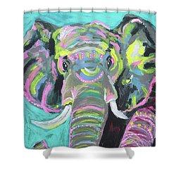 Tribal Elephant Shower Curtain by Kim Heil