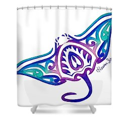 Tribal Manta Ray Shower Curtain