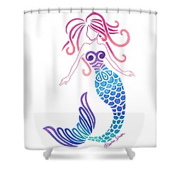 Tribal Mermaid Shower Curtain
