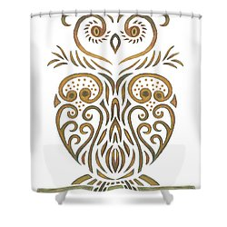 Tribal Owl Shower Curtain