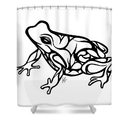 Tribal Ribbet  Shower Curtain