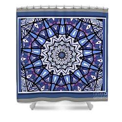 Tribal Star Shower Curtain