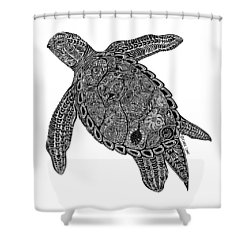 Tribal Turtle I Shower Curtain by Carol Lynne