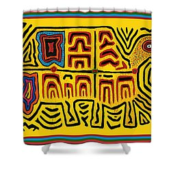 Tribal Turtle Spirit Shower Curtain by Vagabond Folk Art - Virginia Vivier