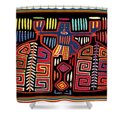 Tribal Woman Fanning Stove Shower Curtain by Vagabond Folk Art - Virginia Vivier