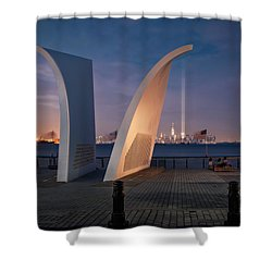 Shower Curtain featuring the photograph Tribute In Light by Eduard Moldoveanu