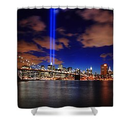 Tribute In Light Shower Curtain by Rick Berk