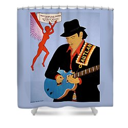 Shower Curtain featuring the painting Tribute To Carlos by Stephanie Moore