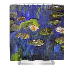 Shower Curtain featuring the painting Tribute To Monet by Michael Helfen
