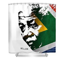 tribute to Nelson Mandela Shower Curtain