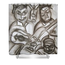 Tribute To The String Bass Shower Curtain
