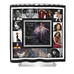 Tribute Whitney Houston One Moment In Time Shower Curtain