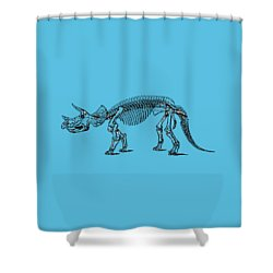 Triceratops Dinosaur Tee Shower Curtain