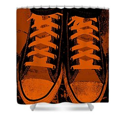 Trick Or Treat Feet Shower Curtain by Ed Smith