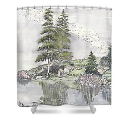 Trickle Park Colorado Shower Curtain