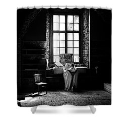 Tridentine Mass In An Ancient Chapel In The Old Dominican Monastery In Tallinn Shower Curtain