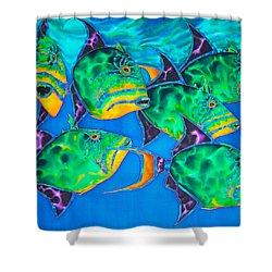 Queen Triggerfish Shower Curtain