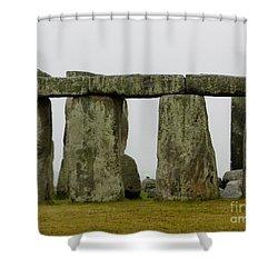 Trilithons Shower Curtain by Priscilla Richardson