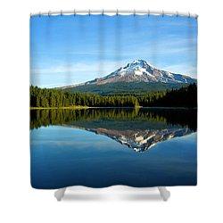 Trillium Lake Mt Hood Fall Shower Curtain