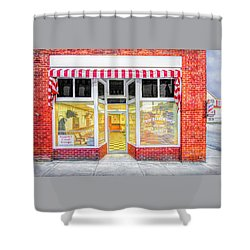 Shower Curtain featuring the photograph Trim Barber Shop by Marion Johnson