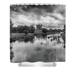 Trim Castle And The River Boyne Shower Curtain by Martina Fagan