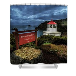 Shower Curtain featuring the photograph Trinidad Memorial Lighthouse by James Eddy