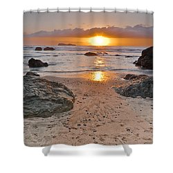 Trinidad State Beach Sunset Shower Curtain