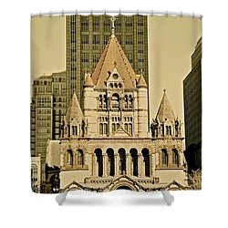 Trinity Church Shower Curtain by Corinne Rhode