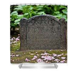 Trinity Church Tombstone Shower Curtain