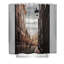 Shower Curtain featuring the photograph Trinity Lane Cambridge by Gill Billington
