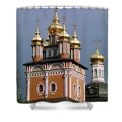 Trinity Lavra Of St. Sergius Monastery Sergiev Posad Zagorsk Shower Curtain by Wernher Krutein
