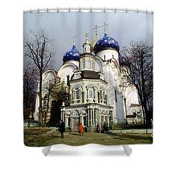 Trinity Lavra Of St. Sergius Russian Orthodox Churchsergiev Posad Shower Curtain by Wernher Krutein