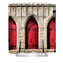Trinity Lutheran Entrance Shower Curtain