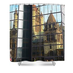 Trinity Reflection Shower Curtain by Corinne Rhode