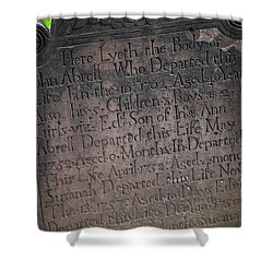 Trinity Tombstone Shower Curtain
