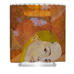 Trio Shower Curtain by Antoaneta Melnikova- Hillman