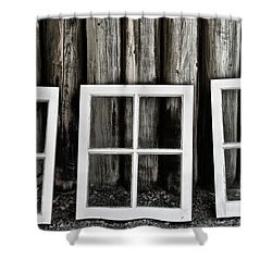 Shower Curtain featuring the photograph Trio by Brad Allen Fine Art