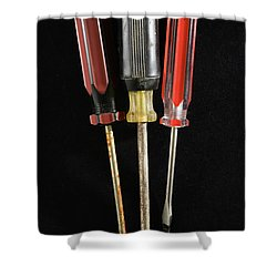 Trio Of Screwdrivers Shower Curtain