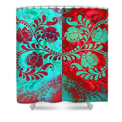 Shower Curtain featuring the digital art Trip The Night Fantastic Together by Angelina Vick