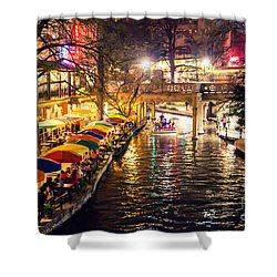 Trip To The Riverwalk Shower Curtain