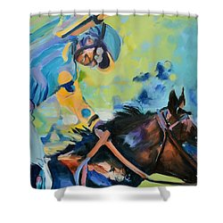 Triple Crown Champion American Pharoah Shower Curtain