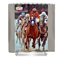 Triple Crown Winner Justify 2 Shower Curtain