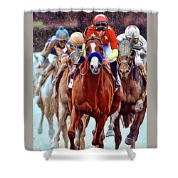 Triple Crown Winner Justify Shower Curtain